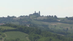 A church on top of a hill Stock Footage