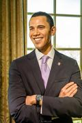 Barack Obama Figurine At Madame Tussauds Wax Museum Stock Photos