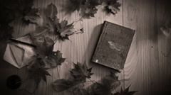 Black and white stylize Animation of a book opening, - stock footage