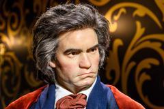 Ludwig van Beethoven Figurine At Madame Tussauds Wax Museum - stock photo