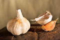 clove of garlic - stock photo