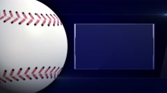 Baseball Ball and Monitor, Background Loop, 4k Stock Footage