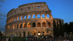 tourists and the colosseum in rome - stock footage