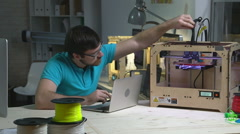 Freelance 3D printing Designer Stock Footage