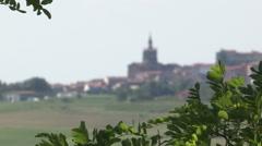 The village of Lu Monferrato Stock Footage