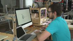 Designer Creating 3d Printing Models Stock Footage