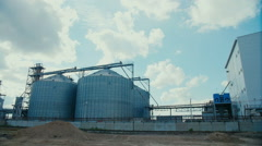 Fuel storage tanks in industry Stock Footage