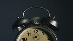 Vintage alarm clock ringing - stock footage