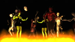 Monster Party Dance Stock Footage