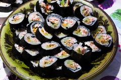 Lots of home made sushi Stock Photos