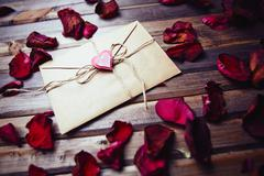 Letter for sweetheart - stock photo