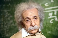 Albert Einstein Figurine At Madame Tussauds Wax Museum Stock Photos