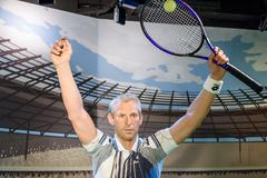 Thomas Muster Figurine At Madame Tussauds Wax Museum Stock Photos
