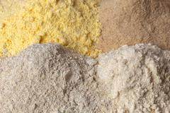 different flour bread - stock photo