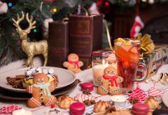 colorful christmas sweets - stock photo