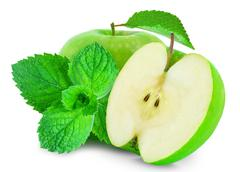Apple and mint Stock Photos