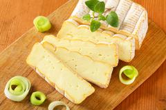 French washed rind cheese Stock Photos