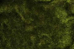 Green furry fabric Stock Photos