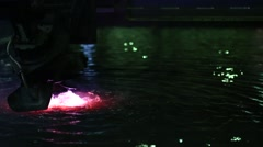 Plasma cutter under water Stock Footage
