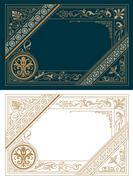 Retro Frame Template. Baroque Style - stock illustration