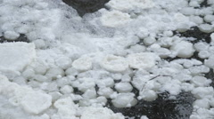 Closer look of the white snow caps on the water - stock footage