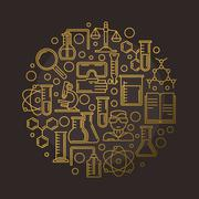 Chemistry vector illustration Stock Illustration