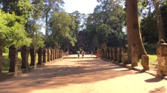 Cambodia - Nov 10: Hyperlapse of Ta Prohm (Rajavihara) in Angkor, Siem Reap, Cam Stock Footage