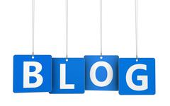 Stock Illustration of Blog Web Tags
