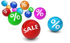Sale Shopping Percent Reduction And Discount - stock illustration