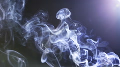 Movement of Incense Smoke on a dark background Stock Footage