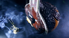 Sitar, a String Traditional Indian Musical Instrument Stock Footage