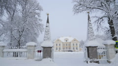 View outside the Palmse manor in Estonia Stock Footage