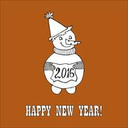 new year hand drawn doodle - stock illustration