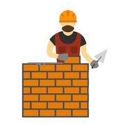 Illustration of under construction vector people - stock illustration