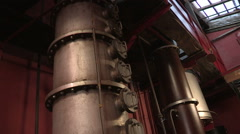 Old equipment to ferment wine Stock Footage