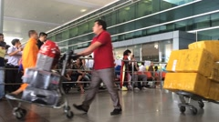 Passangers arrived in Saigon international airport Tan Son Nhat Stock Footage