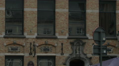 Tilt view of Delaney's Irish Pub on Burg street Stock Footage