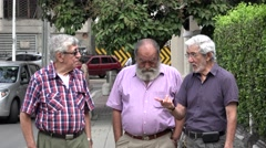 Old Men Longtime Friends Stock Footage