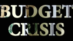 Budget Crisis - Financial security concept Stock Footage