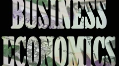 Business Economics - Financial growth and investment concept - stock footage