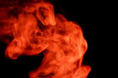 Abstract red smoke hookah. - stock photo