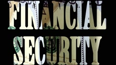Financial Security - Business economics concept - stock footage
