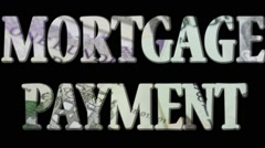 Mortgage Payment - Expense and debt collecting concept - stock footage