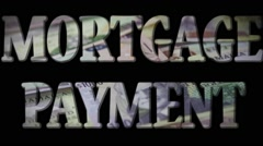 Mortgage Payment - Expense and debt collecting concept Stock Footage