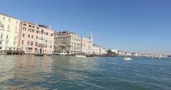 Tourism in Venice in the Grand Canal, Italy Stock Footage
