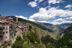 Col de la Couillole (French Alps) - stock photo