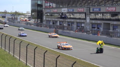 4k GT Masters racing motorsport position formation lap - stock footage
