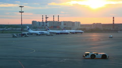 View at Domodedovo airport territory, Moscow Stock Footage