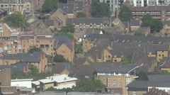 Aerial view residential district traditional houses design suburban London UK Stock Footage
