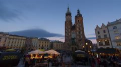 Krakow sunset timelapse Stock Footage